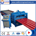 Steel Glazed Roofing Tiles Rolling Making Machine