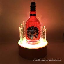 Cheap Acrylic LED Wine Bottle Display Rack