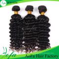 Extensão 7A / 8A brasileira profunda do cabelo humano do cabelo do Virgin da onda profunda de Remy