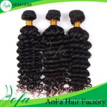 Extension de cheveux humains en gros brésilien vague profonde remy 7a / 8a