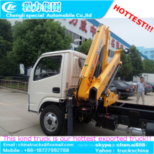 2 t Cargo montage grue télescopique grue à flèche monté sur camion