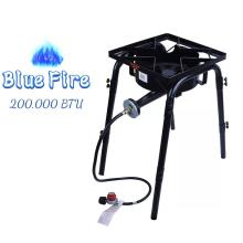 Outdoor Camping Burner Stove With Adjustable Legs