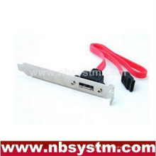 single port SATA to eSATA slide plate cable
