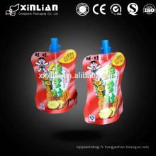 Sac flexible à chaud pour sachet en plastique pour emballage liquide