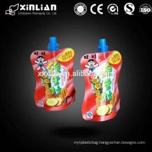 Hot sale flexible bag for liquid packaging plastic bag