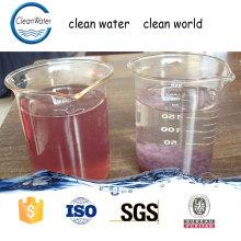 CW-08 décolorant l'eau enlèvement de couleur traitement chimique des eaux usées agents auxiliaires chimiques n1