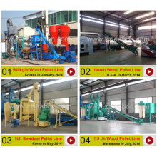 Ligne de machine à granulés de biomasse à économie d'énergie / Ligne de granulation de bois