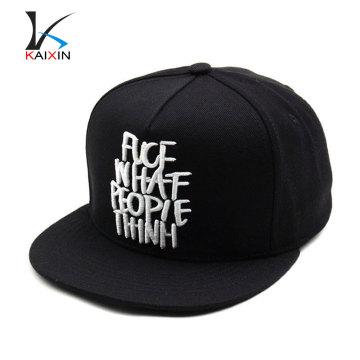 novo costume moda acrílico snapback cap / chapéu com 3d bordado logotipo atacado / snapback cap e chapéu com caixa de plástico
