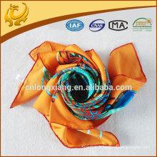 Écharpe imprimée imprimée numérique 14mm carré en soie 90 * 90cm