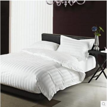 Canasin Classic 3cm Stripe Hotel Linen 100% Cotton White