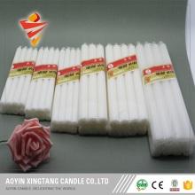 Votive long burning white wax candles