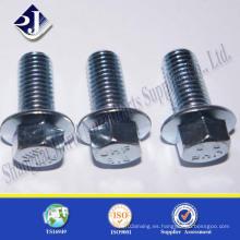 Tornillo de brida estándar superior con recubrimiento de zinc azul 4.8