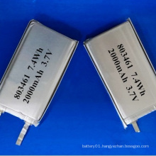 803461 Lithium-Ion Battery 3.7V 2000mAh Li-Polymer Battery