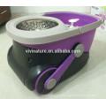 Essorer la vadrouille de cuisine d'essorage 1000rpm vadrouille télescopique avec le tissu de microfibre