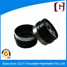 Parte de mecanizado de precisión de aluminio anodizado negro