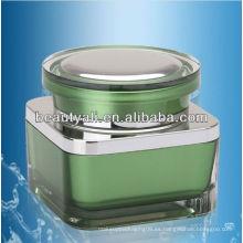 15G 30G 50G Cuadrado de acrílico crema cosmética frasco de embalaje frasco de crema de cosméticos vacío