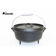 Cast iron camping 3 legs dutch oven