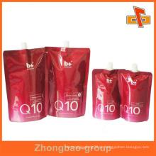 Stehen Sie kundenspezifische bedruckte Plastikauslaufbeutel für kosmetische Verpackung auf