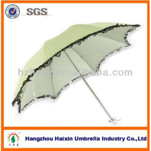 Nice Looking Lace 3 Folding Sun Umbrella for gift