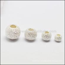 925 серебристо-матовое ожерелье из бисера, выполненное в стиле DIY SEF011
