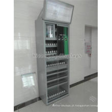 Customized Floor Standing Loja de varejo Publicidade Top Lighting Metal Starberry cigarro Display Case