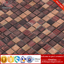 China supply factory cheap products rustic mixed design Hot - melt mosaic tiles