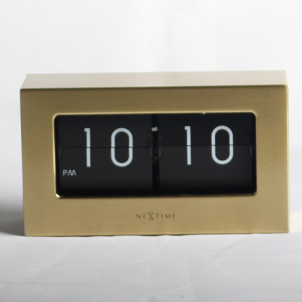 Retro Medium Flip Clocks Golden