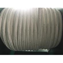 La fibre chimique de doubles tresses corde la corde d'amarrage de corde de polyester de corde de corde de pp