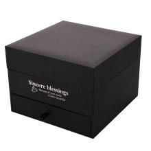 Boîte-cadeau rigide à clapet en carton avec tiroir