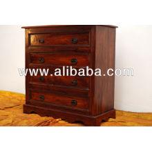 Sheesham pecho de madera de cajón