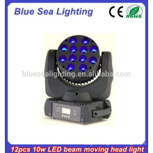 12pcs 10w RGBW 4in1 led beam moving head light