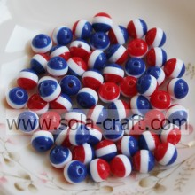 Nice Colors Round Jewelry Striped Resin Beads For DIY Necklace