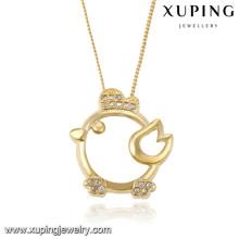 43066 Xuping neues Design Gold überzogene Tierhalskette