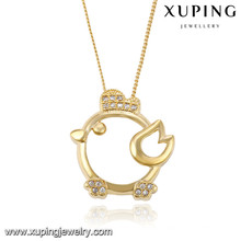 43066 Xuping nouveau design plaqué or animal collier