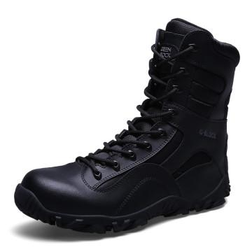 Nuevas botas militares del combate del cuero genuino de los cargadores botas tácticas de la policía (31004)