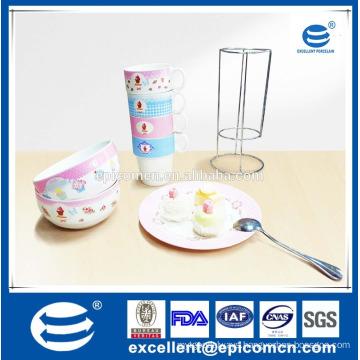New Arrival Popular Daily Use Elegant Ceramic Tea Set Cups Porcelain Home Best