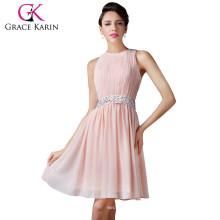 Grace Karin Women Sleeveless Chiffon Short Formal Bridesmaid Dress Patterns 2015 CL6222