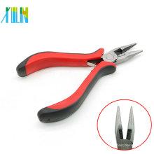 Alicates de nariz plana ZYT0004 Mini con manija roja para la fabricación de joyería del collar de los colgantes
