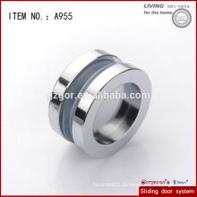 Алюминиевая круглая внутренняя движущаяся дверная ручка