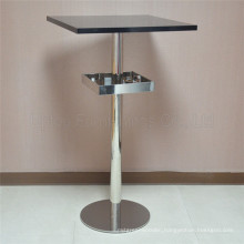(SP-BT689) Square Stainless Steel Cocktail Bar Table with Storage