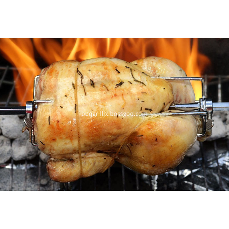 Grill Rotisserie Meat Burning