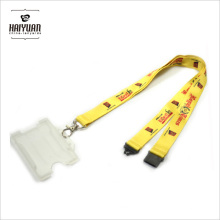 Clear Soft PVC /Plastic Card Holder Lanyard with Custom Printing