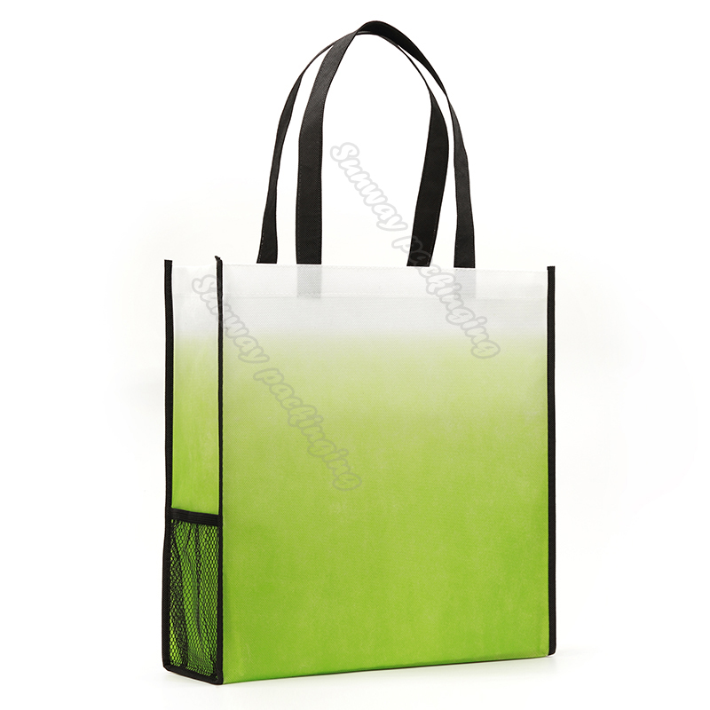 Green Gradient Non Woven Carry Bags