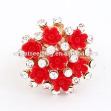 Novo estilo pequeno anel de flor engraçado anéis de noivado indiano