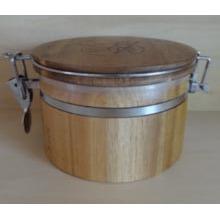 Bidon en bambou / pot de bambou / pot de joint