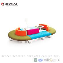 Canapé de loisirs public Orizeal meuble meuble rond modulaire avec bureau de café pour le café et le repos (OZ-OSF023)