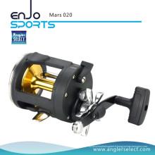 Angler Select Mars Ingénierie haute résistance Plastique Body 2 + 1 Bearing Sea Fishing Trolling Fishing Reel (Mars 020)