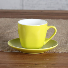 3OZ Lemon espresso cup and saucer