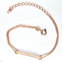 925 Silver CZ Stone Jewelry Bracelet (K-1755. JPG)