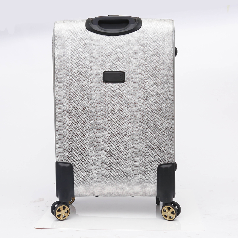 elegance pu leather luggage